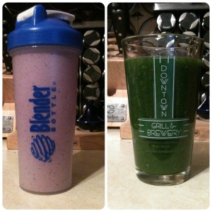 "Breakfast Smoothie & Detoxifying ""Green Drank"" (v, gf)"