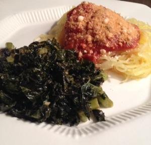 Spaghetti Squash & Garlicky Kale: Vegan Italian Extravaganza! (1/3)