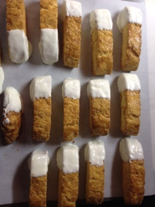 biscotti dipped